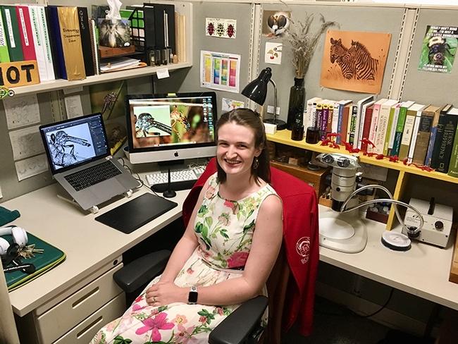 UC Davis doctoral candidate Charlotte Herbert Alberts in her habitat.