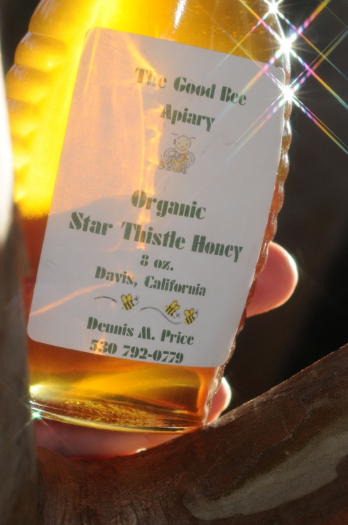 Olympians have gold medals, but beekeepers have liquid gold. (Photo by Kathy Keatley Garvey)