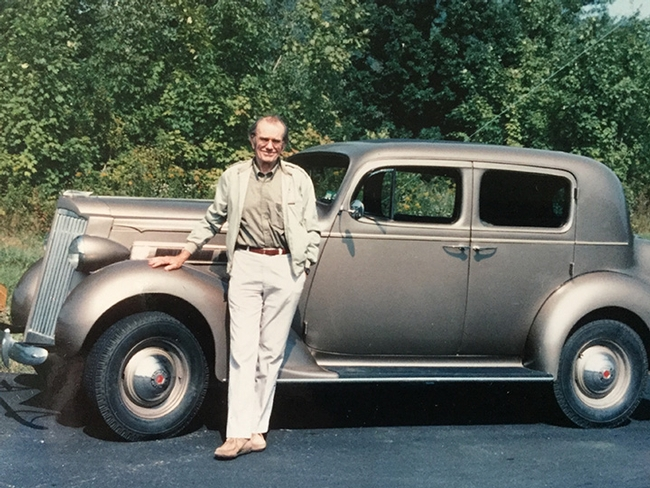 Tom Eisner loved chemical ecology--and cars, including this Buick. (Courtesy Photo)