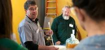 Winemaker Chik Brenneman leads a group at the 2017 UC Davis Honey and Pollination Center's Mead Making Bootcamp. (Honey and Pollination Center Photo) for Bug Squad Blog