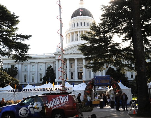 CALIFORNIA AG DAY at the state capitol last year. The annual event heralds in spring. This year's event takes place March 23. (Photo by Kathy Keatley Garvey)