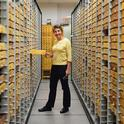 Lynn Kimsey directs the Bohart Museum of Entomology at UC Davis.  (Photo by Kathy Keatley Garvey)