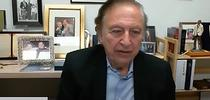 Renowned virologist Robert Gallo ponders a question during his interview with UC Davis distinguished professor Walter Leal. The virtual symposium is from 5 to 7 p.m., June 3. (Screen shot) for Bug Squad Blog