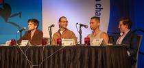 The 2018 UC team, comprised of UC Davis and UC Berkeley graduate students, won the national Linnaean Games championship. From left are graduate students Zachary Griebenow and Brendon Boudinot of UC Davis, captain Ralph Washington Jr. of UC Berkeley (he received his bachelor's degree in entomology from UC Davis) and Emily Bick of UC Davis. (ESA Photo) for Bug Squad Blog