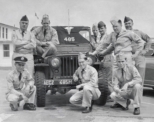 Lt. Robert Washino (front left) served as a medical entomologist in the Korean War, seeing duty with the U.S. Army Medical Service Corps from 1956 to 1958.