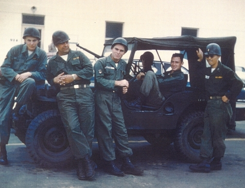 Lt. Robert Washino (far right) served with the U.S. Army Medical Corps from 1956 to 1958 during the Korean War.