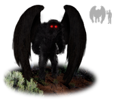 A question about the paranormal figure Mothman drew interest at the Entomology Games, hosted by the Entomological Society of America. (Illustration by Tim Bertelink, Wikipedia)