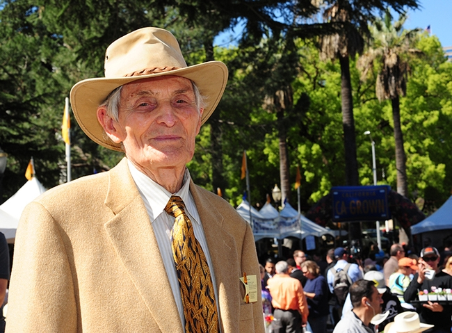 Agriculture icon Richard Rominger attending the 2015 California Agriculture Day at the state capitol. He served as Gov. Jerry Brown's California Secretary of Agriculture, and as President Bill Clinton's Deputy Secretary of Agriculture. (Photo by Kathy Keatley Garvey)