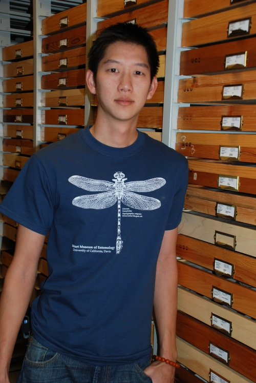 William Yuen wearing dragonfly t-shirt