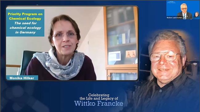 Professor Monika Hilker  of the Free University of Berlin shares her memories of Wittko Francke. (Screenshot)