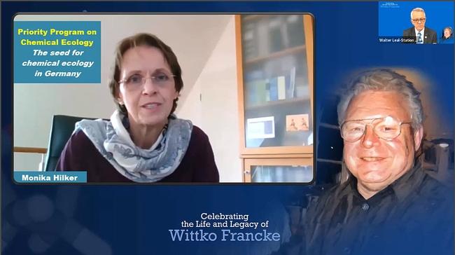 Professor Monika Hilker  of the Free University of Berlin shares her memories of Wittko Francke. (Screenshot)