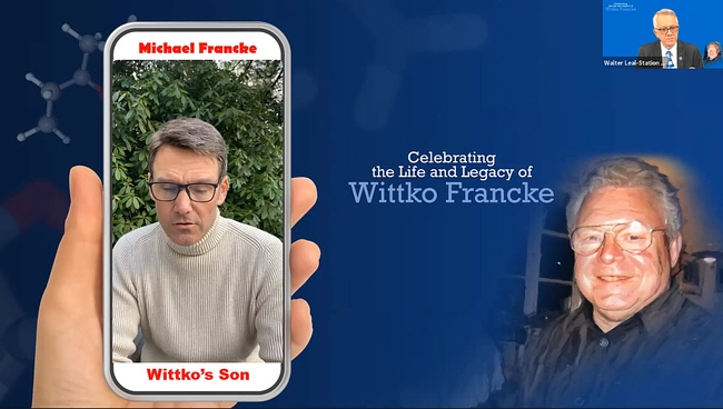 Michael Francke, the youngest of Wittko and Heidi Francke's sons, talks about his father. (Screenshot)
