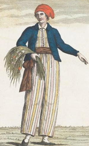 This is a drawing of botanist Jeanne Baret, (1740-1807). (Wikipedia image)