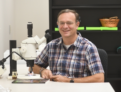 Jason Bond, the Evert and Marion Schlinger Endowed Chair in Insect Systematics, UC Davis Department of Entomology and Nematology (Photo by Kathy Keatley Garvey)