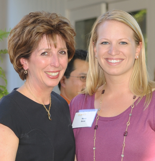 UC Davis Chancellor Linda Katehi (left) with Melissa