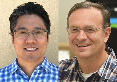 Co-editors-in-chief of the journal Insect Systematics and Diversity are Jason Bond (right) of UC Davis and Hojun Song of Texas A&M. (ESA News Release)