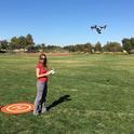 Entomologist Elvira Lange utilizing a drone. Agricultural drones, she said, are