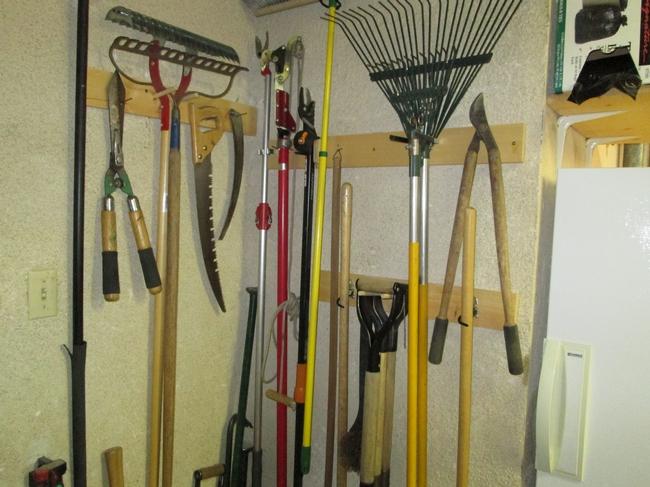 Wall mounted tools