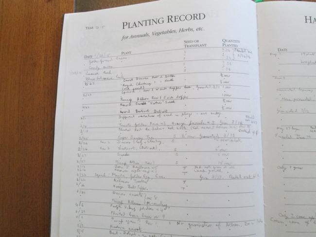 Planting record