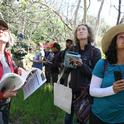 Naturalists from Grassroots Ecology take phenology data.