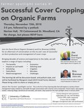 Successful Cover Cropping on Organic Farms