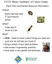 Plant Clinic flyer