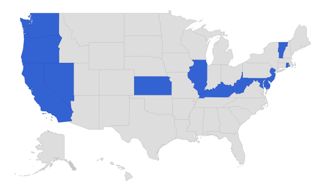 Blue depicts states that have adopted Next Generation Science Standards