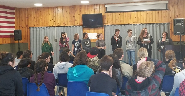 At 4-H workshops, participants practiced public speaking and other leadership skills.