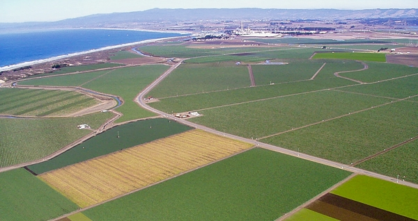 The Salinas Valley is one of the most productive agricultural areas in California. Photo courtesy of the Monterey Regional Water Pollution Control Agency.