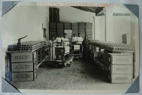 A water bottling room in Tehuacan, Mexico in the 1920's. Photo by Casey Walsh.