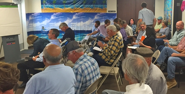 A groundwater meeting in the Cuyama groundwater basin. Photo by Casey Walsh.