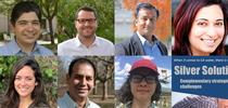 UC water experts Sandoval, Grantham, Khan, Nocco, Bruno, Medellin, and Suvočarev (clockwise from top left) are kicking off the first session of the new webinar series. for The Confluence Blog