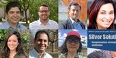 UC water experts Sandoval, Grantham, Khan, Nocco, Bruno, Medellin, and Suvočarev (clockwise from top left) are kicking off the first session of the new webinar series.