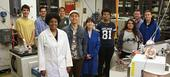 Students in the Tripati Lab. Photo courtesy of Center for Diverse Leadership in Science.
