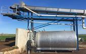 Zuppan's manure solid separator system funded by a CDFA AMMP grant. Photo by Dana Yount.