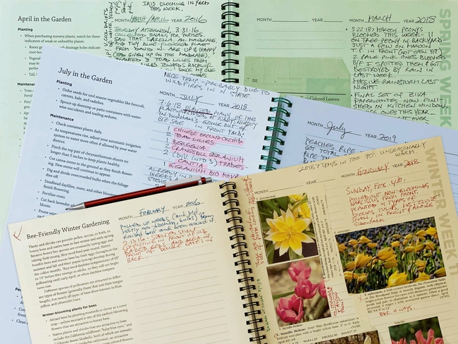 Garden Guide and journal pages