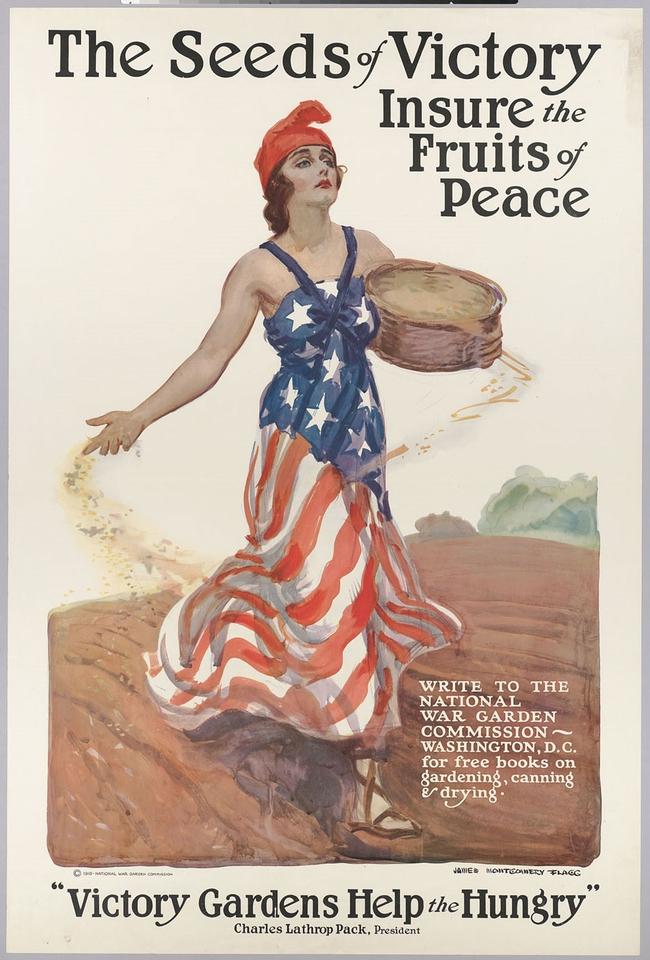 Victory Garden poster, CA 1918, USDA