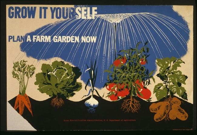 Grow it Yourself - Plan a Farm Garden Now, CA, 1942, USDA
