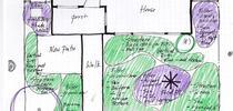 Preliminary planting plan, Eve Werner for The Real Dirt Blog Blog