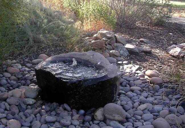Fountain at Master Gardener Demonstration Garden at Patrick Ranch, Cindy Weiner