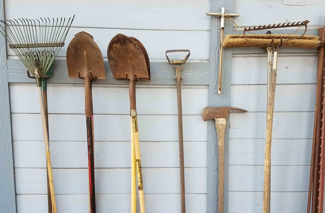 Tools needing cleaning and sharpening, J. Alosi