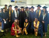 This is the Department of Entomology and Nematology's Class of 2019, with faculty advisor Sharon Lawler, professor of entomology. In front (from left) are Eliza Litsey, Jessica Nguyen and Abram Estrada. In the second row (from left) are Darian Buckman, Lohitashwa Garikipati (without mortarboard and partially hidden), Dingyuan Peng, Seiji Yokota,  faculty advisor Sharon Lawler, Michelle Tam, Jo Hsuan Kao, Matthew Salvador, and  Rayanh Gutierrez. Not pictured is Jesus Martinez Rodriguez.