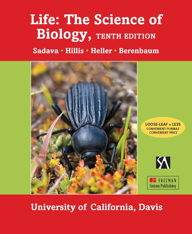 A photo of a darkling beetle, by Fran Keller, graces the cover of this textbook.