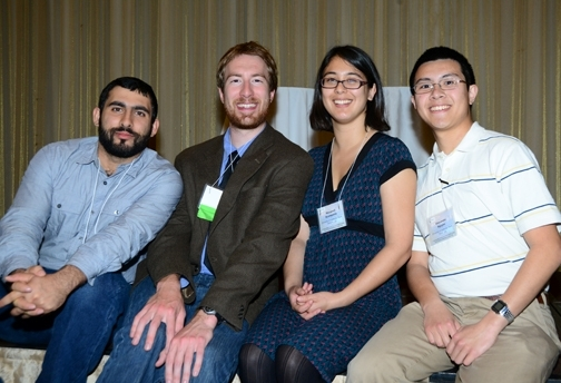UC Davis Team that placed second at the PBESA competition: from left, Mohammad-Amir Aghaee, Matan Shelomi, Rei Scampavia, and Alex Nguyen. (Photo by Kathy Keatley Garvey)