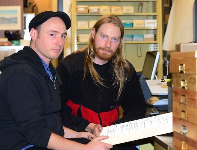 Ant specialists Matthew Prebus (left) and Marek Borowiec. (Photo by Kathy Keatley Garvey