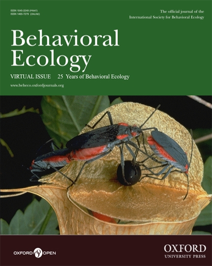 This is Scott Carroll's phot on the cover of the Virtual Issue of the journal, Behavioral Ecology.