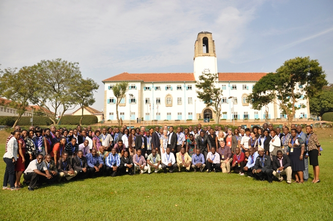 Distinguished Professor James Carey (front row, sixth from right) serves as an advisor to CARTA (Consortium for Advanced Research Training in Africa). This photo was taken at a workshop in Kampala, Uganda in July 2014.