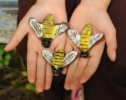 Bee art by Aleta Ballinger, 8, of Davis