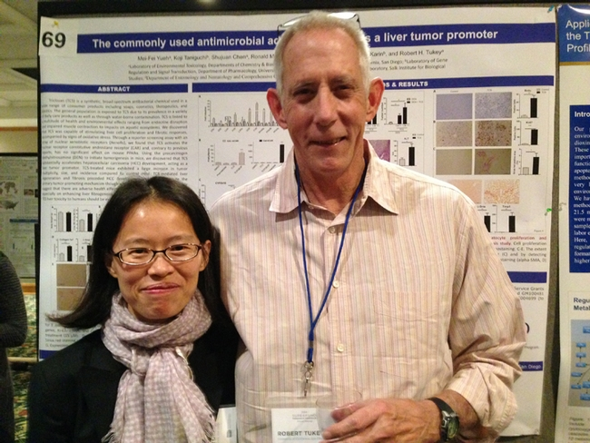 Researchers Mei-Fei Yueh and Robert Tukey of the UC San Diego School of Medicine.