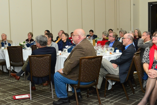 The attendees listen to Mary Lou Flint's presentation.